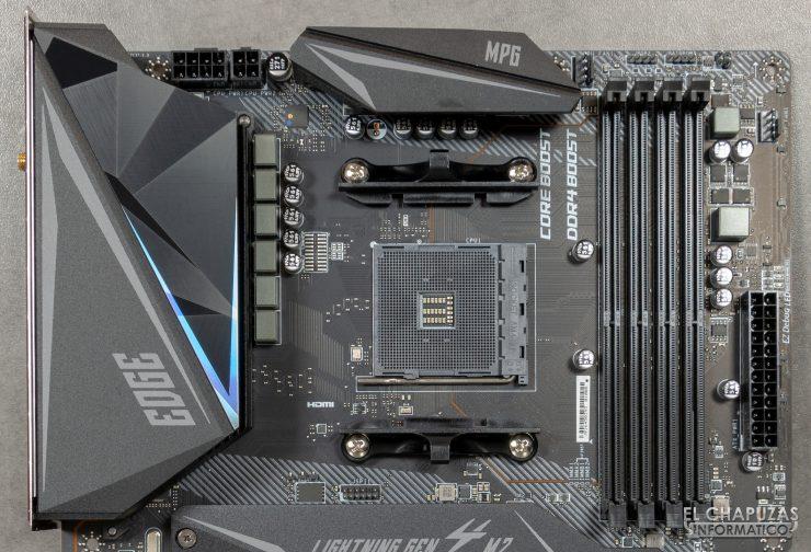 MSI MPG X570 Gaming Edge Wi-Fi - Sección superior