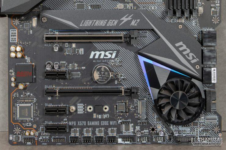 MSI MPG X570 Gaming Edge Wi-Fi - Sección inferior
