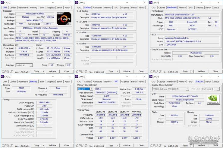 MSI MPG X570 Gaming Edge Wi-Fi - CPU-Z