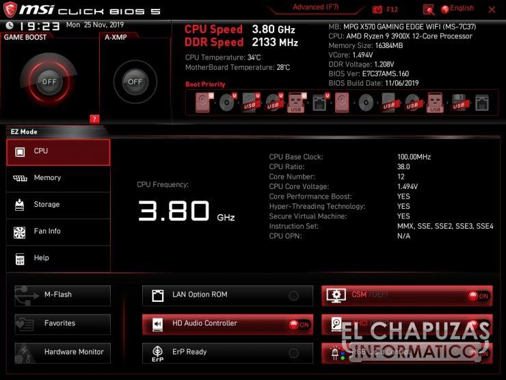 MSI MPG X570 Gaming Edge Wi-Fi - BIOS 1