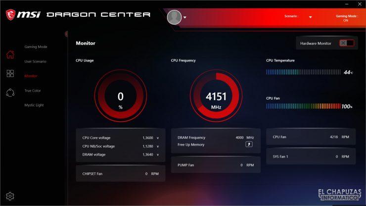 MSI MPG X570 Gaming Edge Wi-Fi - Dragon Center 1