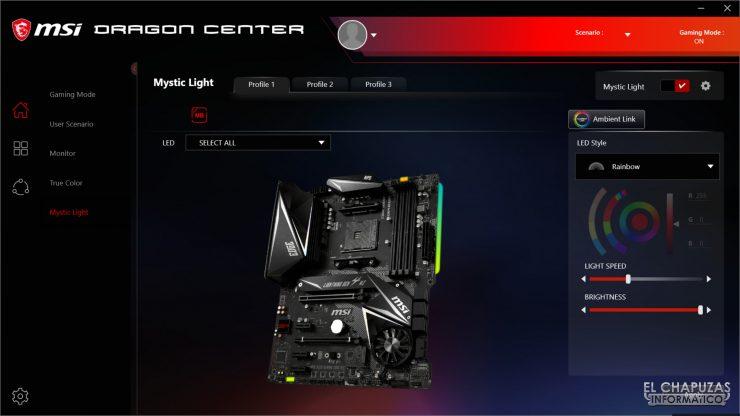 MSI MPG X570 Gaming Edge Wi-Fi - Dragon Center 2