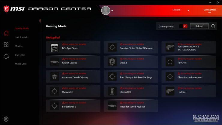 MSI MPG X570 Gaming Edge Wi-Fi - Dragon Center 3