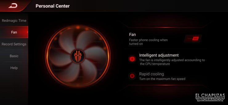 Nubia Red Magic 3S - Game Space 2.1 - Ventilador