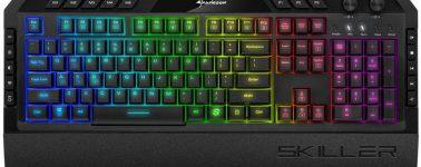 Sharkoon SKILLER SGK5: Un avanzado teclado RGB con botones multimedia, perfiles y macro