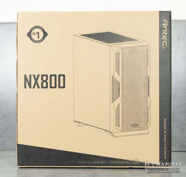 Antec NX800 - Embalaje frontal