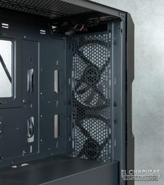 Antec NX800 - Interior - Lado frontal sin filtro