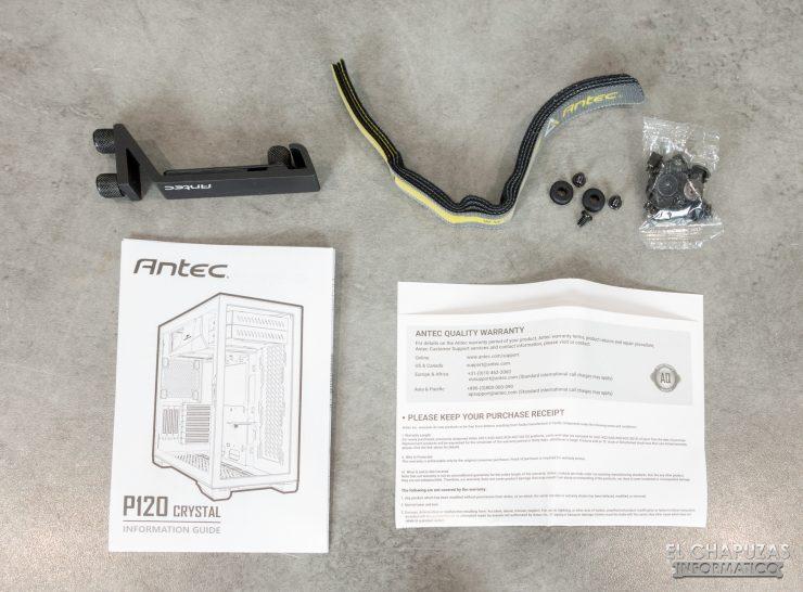 Antec P120 Crystal - Accesorios