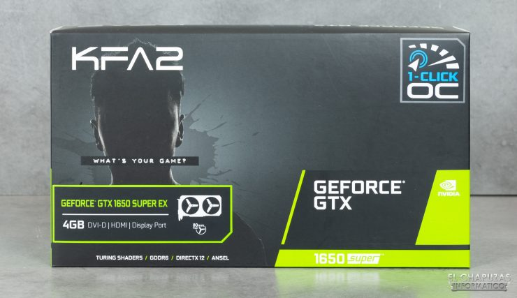 KFA2 GeForce GTX 1650 SUPER EX - Embalaje frontal