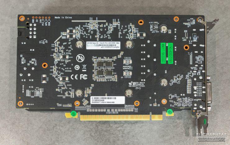 KFA2 GeForce GTX 1650 SUPER EX - PCB trasero