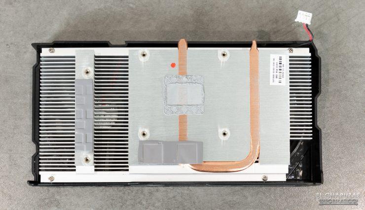 KFA2 GeForce GTX 1650 SUPER EX - Disipador desmontado