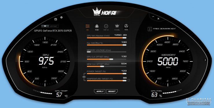 Review KFA2 GeForce RTX 2070 SUPER HOF 10th Anniversary Edition - Software 1