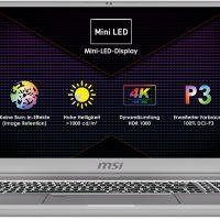 MSI Creator 17: El primer portátil en integrar un panel Mini LED (4K @ 1000 nits)