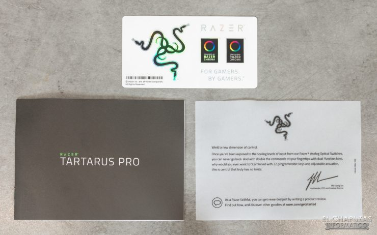 Razer Tartarus Pro - Documentación