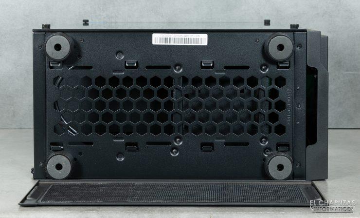 Thermaltake H100 TG - Vista lado inferior abierto