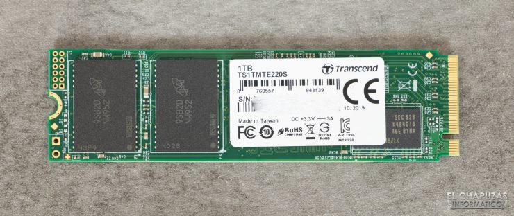 Transcend PCIe SSD220S - Frontal
