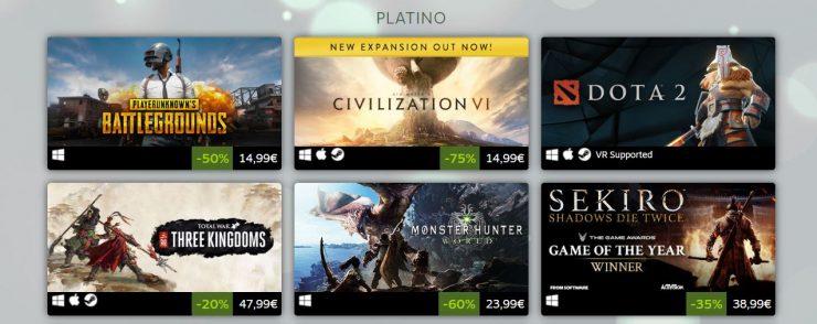 Juegos más vendidos en Steam