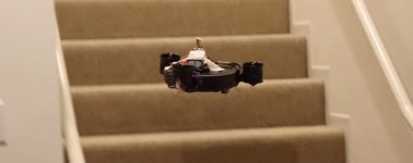 Consiguen hacer que un robot aspiradora sea capaz de volar para subir las escaleras