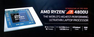 El AMD Ryzen 7 4800U muestra su poderío gráfico en 3DMark, supera a la iGPU del Core i7-1065G7