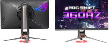 Asus ROG Swift 360Hz, el primer monitor gaming capaz de alcanzar los 360 Hz
