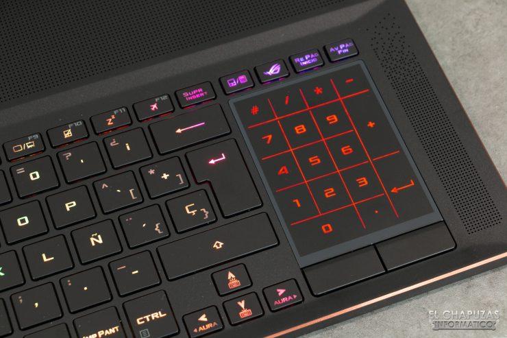 Asus ROG Zephyrus S GX701GXR - Touchpad - Teclado numérico