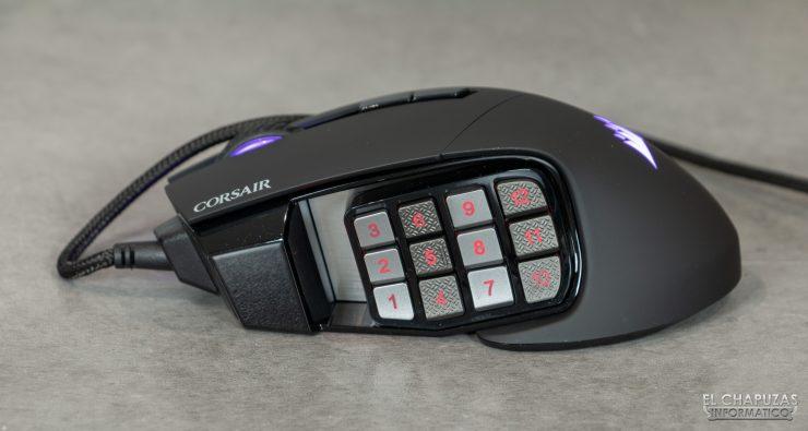 Corsair Scimitar RGB Elite - Lateral izquierdo