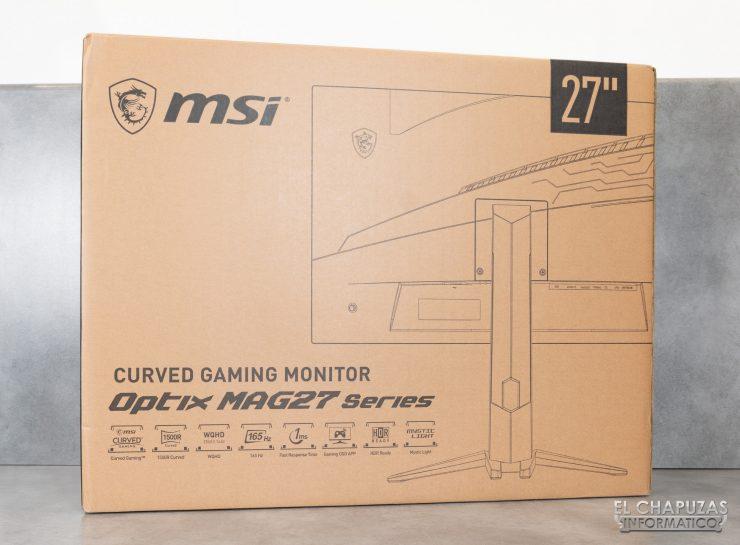 MSI Optix MAG272CQR - Embalaje exterior