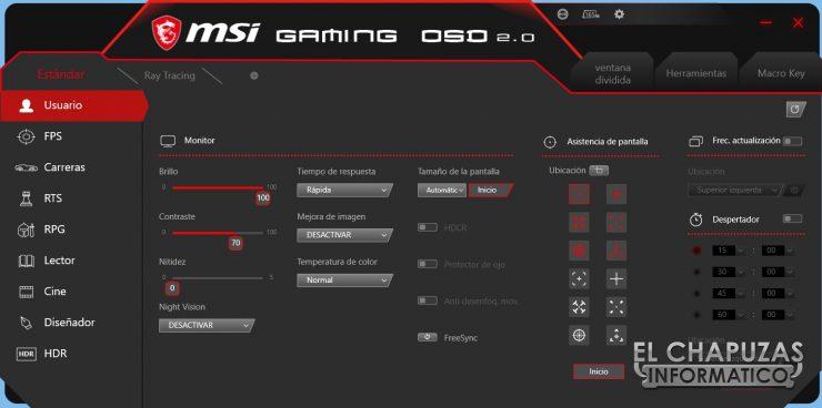 MSI Optix MAG272CQR - Software 1