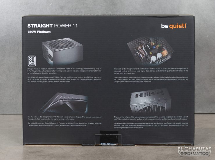 Be Quiet! Straight Power 11 Platinum - Embalaje 4