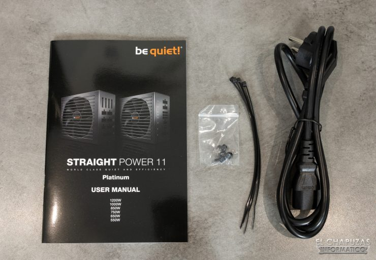 Be Quiet! Straight Power 11 Platinum - Accesorios