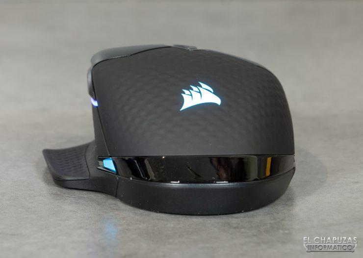 Corsair Dark Core RGB Pro - Lado trasero