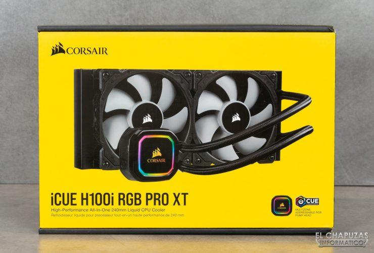Corsair iCUE H100i RGB Pro XT - Embalaje exterior 1