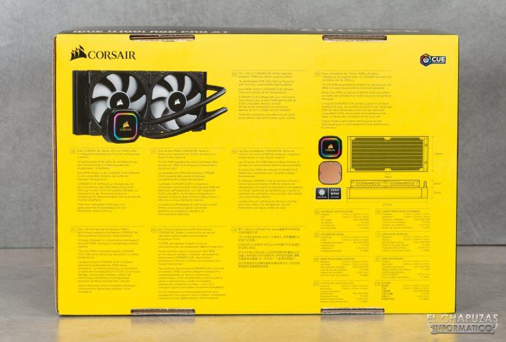 Corsair iCUE H100i RGB Pro XT - Embalaje exterior 2