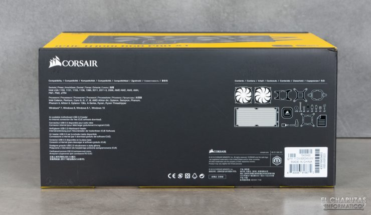 Corsair iCUE H100i RGB Pro XT - Embalaje exterior 3
