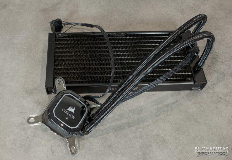 Corsair iCUE H100i RGB Pro XT - Sin ventiladores
