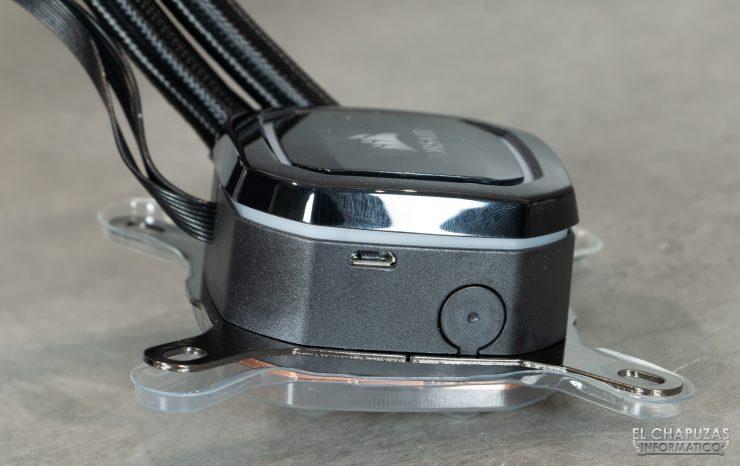Corsair iCUE H100i RGB Pro XT - Conector micro-USB