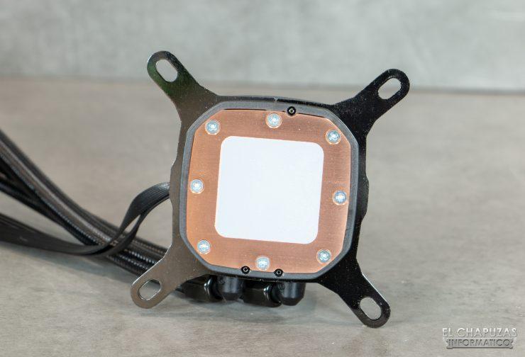 Corsair iCUE H100i RGB Pro XT - Base de cobre con pasta preaplicada