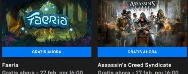 Descarga gratis el Assassin's Creed Syndicate y Faeria desde la Epic Games Store