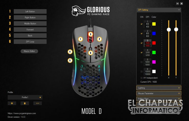Glorious PC Gaming Race Model D - Software 1