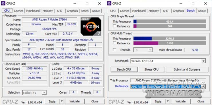 HP Pavilion Gaming 15-ec0003ns - CPU-Z