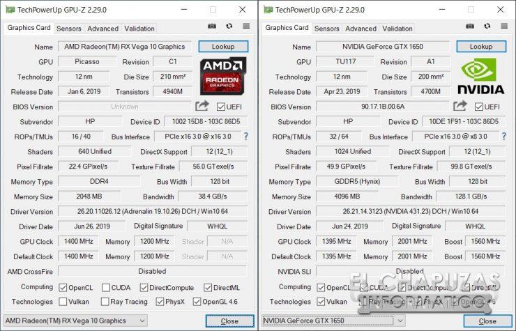 HP Pavilion Gaming 15-ec0003ns - GPU-Z