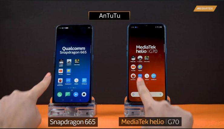Snapdragon 665 vs Helio G70