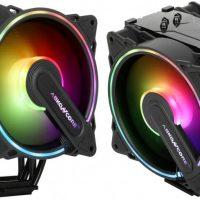 ABKONCORE T404B Hurricane: Disipador CPU con doble ventilador e iluminación ARBG por 39.99 euros
