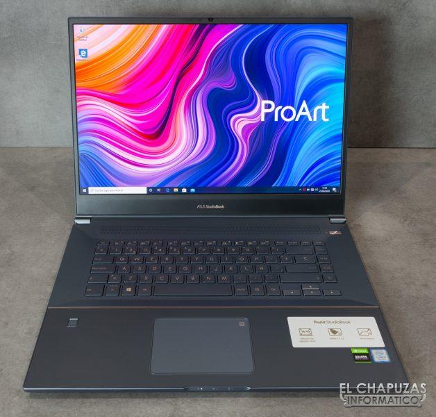 Asus ProArt StudioBook Pro 17 - Abierto