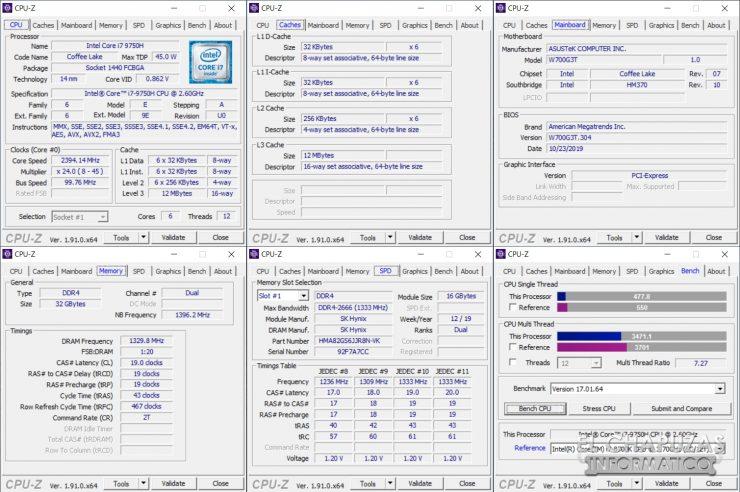 Asus ProArt StudioBook Pro 17 - CPU-Z