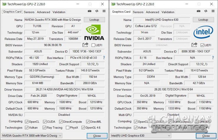 Asus ProArt StudioBook Pro 17 - GPU-Z
