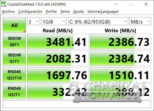 Asus ProArt StudioBook Pro 17 - CrystalDiskMark