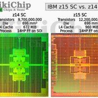 El IBM z15 ofrecerá 1315 MB de caché y una litografía de 14nm equivalente a 5nm