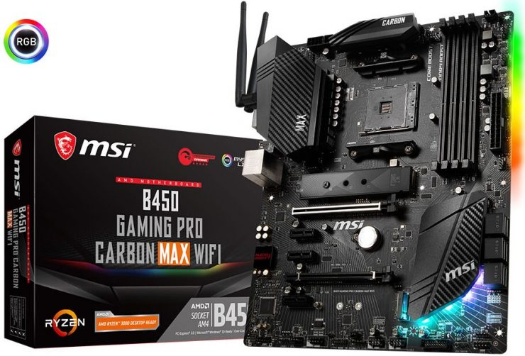 MSI B450 Gaming Pro Carbon MAX WiFi 740x502 0