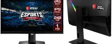 MSI lanza sus monitores Optix G241 & Optix G271 (1080p @ 144Hz) y el MAG251RX (1080p @ 240Hz)
